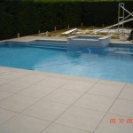 pool and paving
