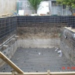 pool strathmore steelwork and retaining walls
